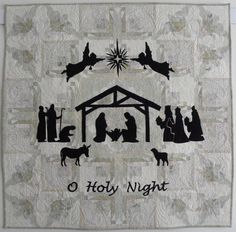 O Holy Night, original art quilt by Carol Moellers - 2012