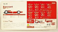 Kyosho 1/64 DyDo Ferrari F1 Mini Car Kit No.18 F1 158F1 1964