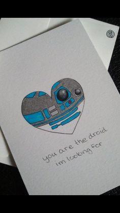 nerd love Star Wars Love Card by ShelbyGoelz My Sun And Stars, Love Stars, Valentine Love Cards, Valentines Day, Starwars Valentines, Science Valentines, Geek House, Star Wars Personajes, Star Wars Day