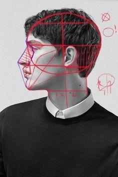 Kết cấu đầu người . Lớp vẽ ART HOME Địa