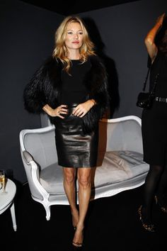 Love the classic leather skirt