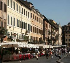 One of my favorite places, Piazza Navona, eating tartufo (yummy chocolate)!
