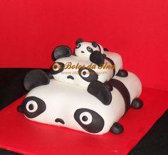 Bolo Família de Pandas