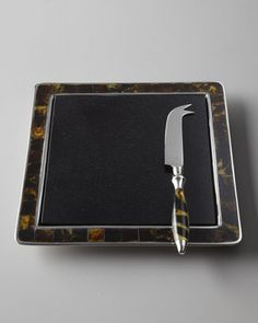 lauren ralph lauren tortoise cheese board and knife **click for more details**