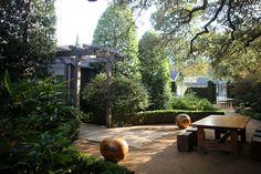 Hotels & Lodging: Hotel San José by Lake Flato - Remodelista Outdoor Rooms, Outdoor Gardens, Outdoor Living, Outdoor Furniture Sets, Hotel San Jose Austin, Landscape Design, Garden Design, Lake Flato, Backyard Paradise
