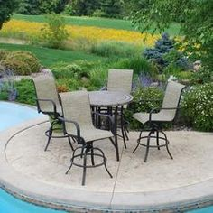 Backyard Creations 5 Piece Laguna High Dining Collection