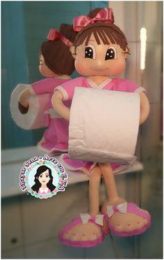 Fofucha porta papel higiênico. Thayse Sena Arte em E.V.A https://www.instagram.com/thayatelier/