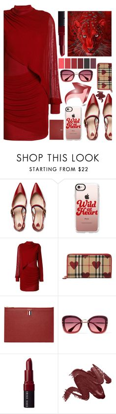 """Wild"" by sunnydays4everkh ❤ liked on Polyvore featuring Gucci, Casetify, Balmain, Burberry, Thom Browne, Miu Miu and Bobbi Brown Cosmetics"