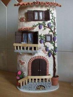 Tegole decorate - tegola casetta