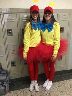 me and my friend's DIY Tweedle Dee & Tweedle Dum Halloween costume