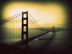 #SanFrancisco #frisco #usa #vintage #retro #californie #GoldenGate #bridge #pont Golden Gate Bridge, San Francisco, Vintage, Usa, Travel, Photography, Viajes, Destinations, Traveling