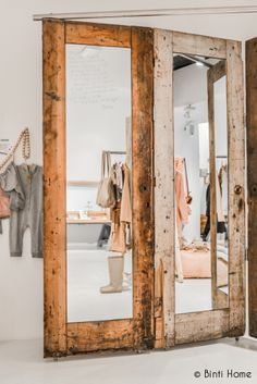 Binti Home Blog: Woods and wool at Sukha Amsterdam, #mirror, #woodmirror