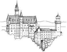 How to draw castles.