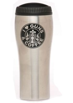Awesome gift for Father's Day- I love guns and coffee Travel Mug