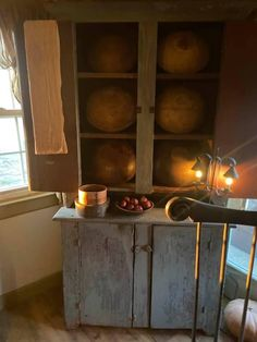 Country Living, Country Decor, Farmhouse Decor, Primitive Kitchen, Primitive Country, Primitive Furniture, Antique Furniture, Cupboards, Cabinets