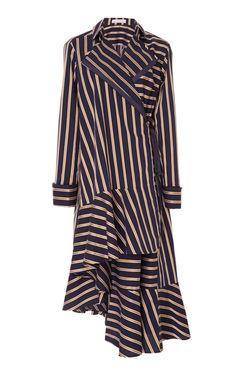 This **palmer//harding** Lapel Asymmetrical Wrap Dress features a cascading hemline with a wrap around design. Source by ordinarydee Dresses Big Girl Fashion, Modest Fashion, Hijab Fashion, Fashion Dresses, Long Shirt Dress, Shirt Skirt, Hijab Stile, Mode Editorials, Elegant Dresses For Women
