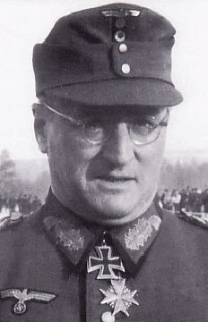 Ferdinand Schörner (12 June 1892 – 2 July 1973) was a General and later Field Marshal in the German Army during World War II. Lieutenant Ferdinand Schoerner received the Pour le Mérite. He was one of 27 people to be awarded the Knight's Cross of the Iron Cross with Oak Leaves, Swords and Diamonds. and one of the youngest German generals. Schörner was a convinced Nazi and became infamous for his brutality. By the end of World War II he was Hitler's favorite commander.