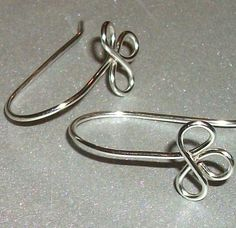 Gold fill Sterling Silver Clover Ear Wires on Etsy, $12.75