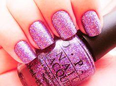 :: pink glitter mani ::