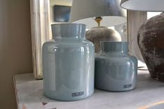 MrsBLOOM collection Vase Rouen old blue @ Cédante