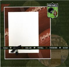 Football Scrapbook Page is Premade and Photo Ready.