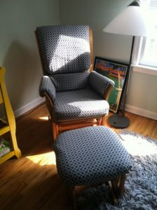 Custom Made Glider Rocker And Ottoman Replacement Cushion Covers 125 By Silly Grandmas Sewing