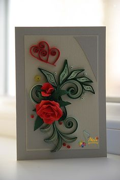 neli: Quilling cards - With love... 2013/2