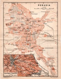 1903 Sorrento Peninsula Antique Map Castellammare Positano