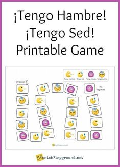 Tener expressions game for Spanish learners teaches high-frequency vocabulary. Printable game to practice tener hambre, tener sed, tener miedo, tener sueño. Spanish Games For Kids, Preschool Spanish, Elementary Spanish, Spanish Activities, Spanish Classroom, Learning Activities, Spanish Worksheets, Spanish Vocabulary, Spanish Language Learning