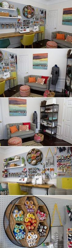 creative home office - craft room - sewing room - AndreasNotebook.com