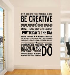 "Creative ""Do"" wall decal.  This vinyl wall decal would never fail to inspire me to create every single day."