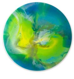 A Planetary Perspective by Julia Godfree. Visit www.visualemporium.com.au to see more of Julia's art. #art #artist #resin #creative #expression #flow #planetary #cosmic #greens
