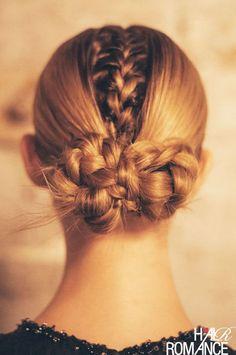Sleek, hidden braids.