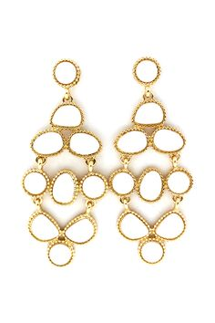 Chandeleir earrings make a statement at any occasion  @Lori Bearden Robinson CHARLIE