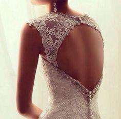 Wedding dress back design