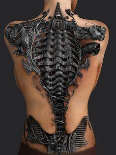 Become an alien cyborg with a biomechanical tattoo tatoo feminina - tattoo feminina delicada - tatto Fake Tattoo, Weird Tattoos, Badass Tattoos, Back Tattoos, Sexy Tattoos, Body Art Tattoos, Sleeve Tattoos, Tattoos For Women, Tattoos For Guys
