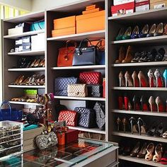 Yep, Hermes on the top, Chanel under that and of course, Louboutin to the right. Yea, like that.