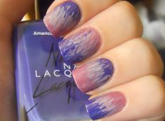 Purple Tie-Dye Nails