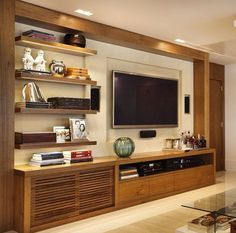 Home Design Ideas - Best Home Design Ideas Wih Exterior And Interior Design Tv Cabinet Design, Tv Wall Design, House Design, Tv Stand Modern Design, Tv Stand Designs, Cozy Family Rooms, Family Room Design, Tv Wanddekor, Tv Wall Decor