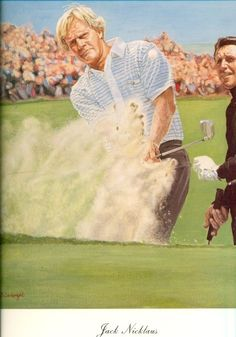 GOLF JACK NICKLAUS  Amazing Print Ready To Frame.