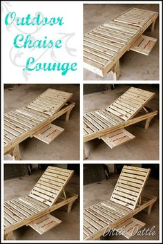 Outdoor Furniture Pallet DIY chaise lounge - There are so many great DIY ideas linked up. I am only done with about half of the list, but I will be doing another Great Ideas post tonight! Outdoor Furniture Plans, Backyard Furniture, Pallet Furniture, Furniture Ideas, Lounge Furniture, Furniture Stores, Furniture Design, Trendy Furniture, Cheap Furniture
