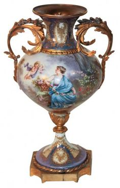 19th C. French Sevres Luster And Gilt Bronze : Lot 174