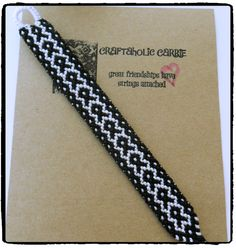Woven Fish/Cancer Ribbon Friendship Bracelet by CraftaholicCarrie on Etsy