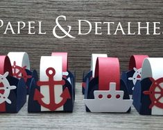 forminha-marinheiro-forminhas Bookends, 1, Home Decor, Nautical Party, Sailor Party, Party Candy, Personalized Party Favors, 3 Year Olds, Packaging