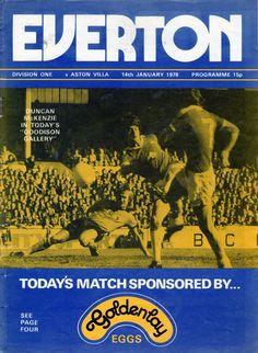 Everton v Aston Villa 1977-78