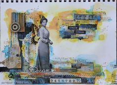 Käsitöitä flamencohame hulmuten Art Journal Pages, Art Journaling, Art Journal Inspiration, Mixed Media Art, Giveaway, Challenges, Dots, Denim, Cards