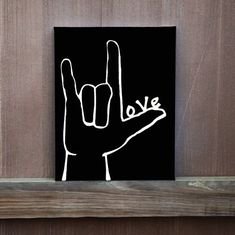 I Love You Sign Language Hand Painted Canvas Love Painted on Thumb Wedding Gift Ready to Hang Multiple Sizes Home Decor Painting Ideas Simple Canvas Paintings, Easy Canvas Painting, Cute Paintings, Diy Canvas Art, Hand Painted Canvas, Love Painting, Paintings For Kids Room, Canvas Quote Paintings, Paintings With Quotes