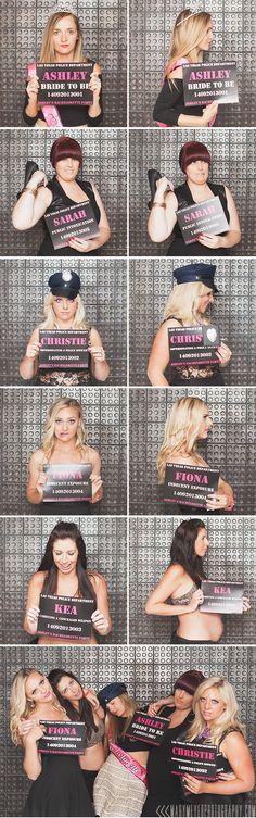 Bachelorette party mug shots www.marymeyerphotography.com/blog