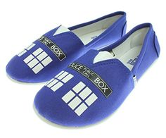 b1da7096f82 Doctor Who Womens Blue Tardis Slip On Shoes Ladies 910   Find out more  details by