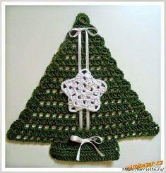13 melhores imagens de Pinheiros de natal em crochê d21dcd3d6b2